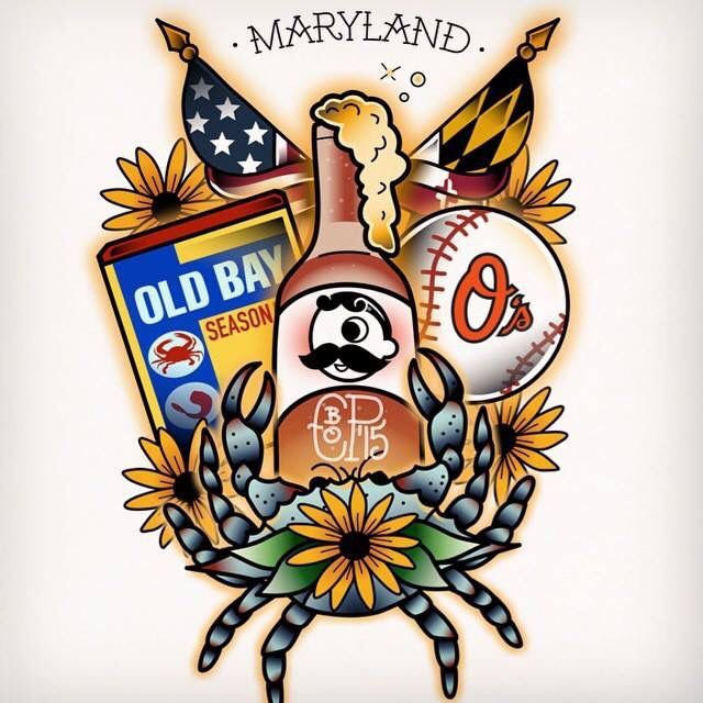 1000 ideas about maryland tattoo on pinterest dance for Maryland tattoo shops