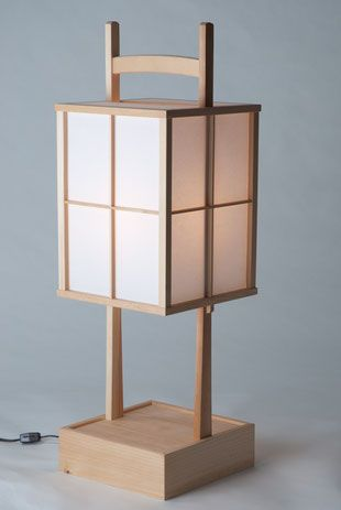 "Japanese Lanterns ""Andon"" - Japanese Wood Crafts and Tools"