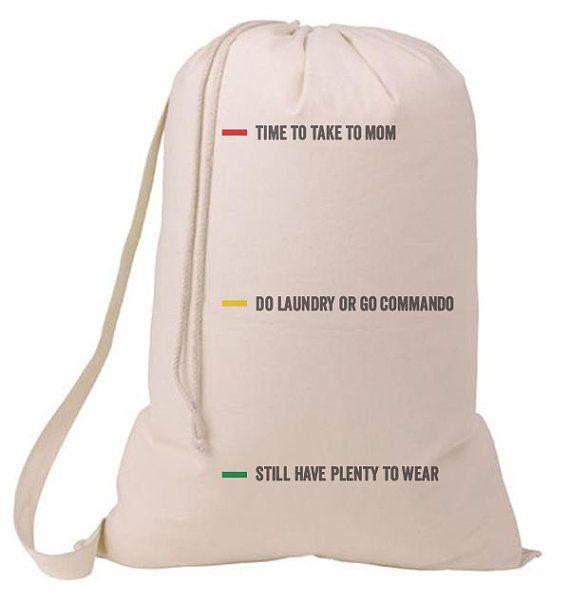Status Whimsical Laundry Bag, Humorous Laundry Bag, College Hamper, College Student- Graduation Gift- BEagle