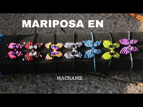 pulsera de hilos  con flores en macrame | friendships bracelets tutorial - YouTube