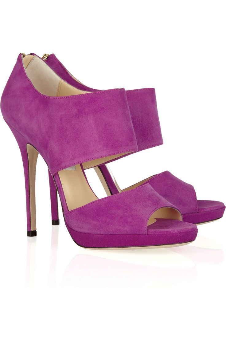 such a yummy color.  jimmy choo / private suede sandals
