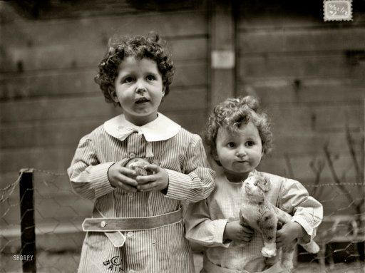 """New York. April 22, 1912. """"Titanic survivors."""" Brothers Michel (""""Lolo"""") and Edmond Navratil, ages 4 and 2, whose father perished when the RMS Titanic sank 100 years ago, and were known as the """"Titanic orphans"""" until their mother was located in France. Our second look at these Titanic tots. Lolo, the last male survivor of the Titanic, died in 2001. Bain News Service photo."""