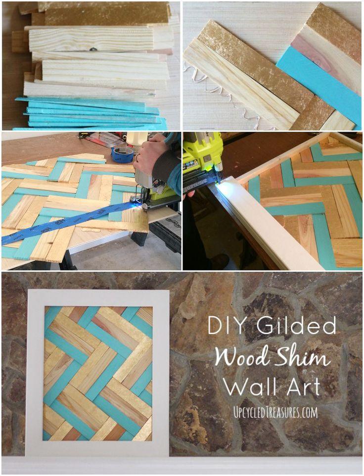 diy-gilded-wood-shim-wall-art-upcycledtreasures