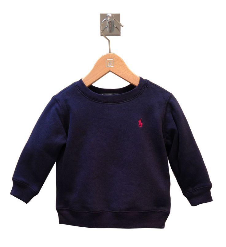 Ralph Lauren baby boy fleece sweater. http://www.brandsforkids.com.au/collections/baby-boy/products/long-sleeved-fleece-crewneck