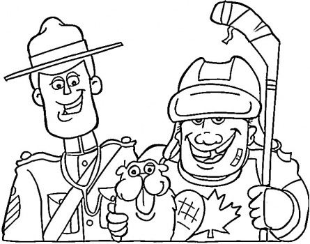 Canadian Hockey Coloring Pages Sunshine School Pinterest