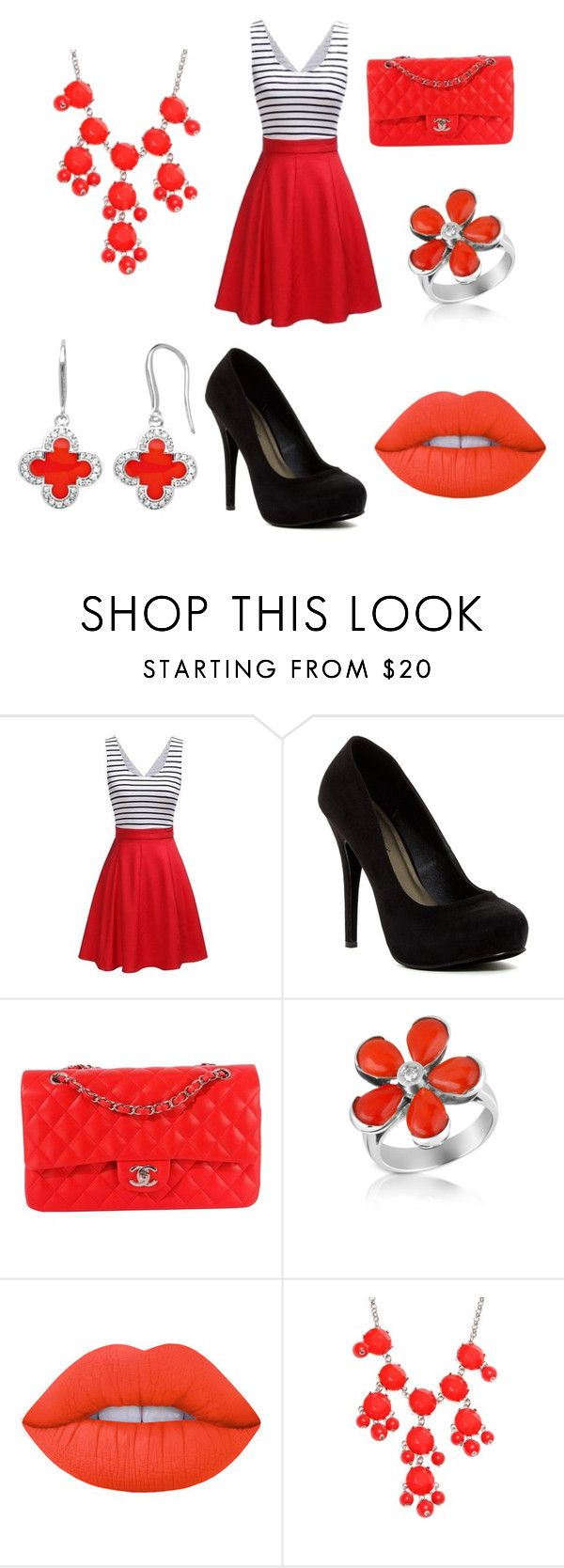 """""""lipstick"""" by lmcfadden-i ❤ liked on Polyvore featuring Michael Antonio, Chanel, Del Gatto, Lime Crime, New Directions and Marie Claire"""