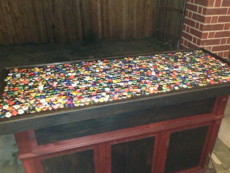 beer bottle cap bar top double d bar pinterest beer
