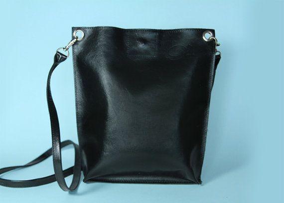 Minimalist Bag Small Crossbody Monica Black Black by ARadaStore