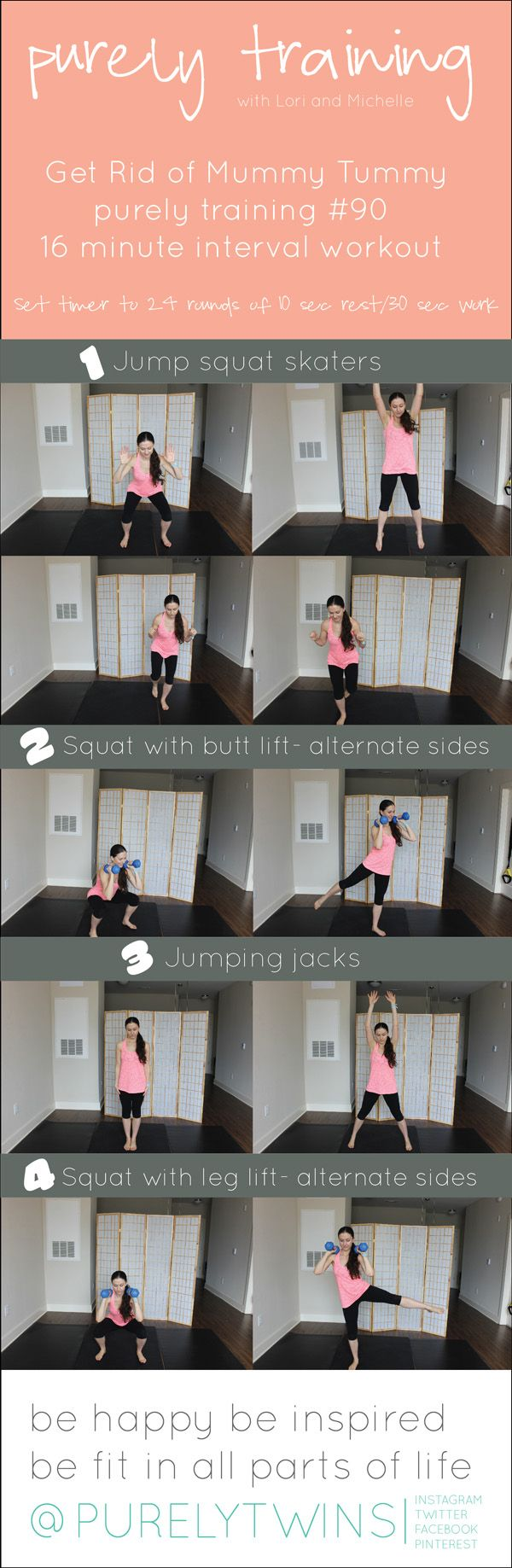 16 minute interval get rid of mummy tummy #workoutsformoms #fitmom #diastasisrecti
