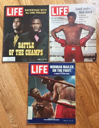 Life magazine: Muhammad Ali/Joe Frazier (set of 3) by AuthorAndFriends on Etsy