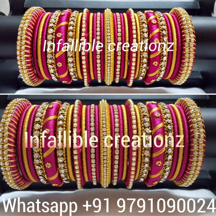 To order Whatsapp +91 9791090024 For more collections visit www.facebook.com/infalliblecreationzsilk Silk Thread jewelry, silk thread bangles, silk thread bridal bangles, wedding bangles, silk thread bangles wholesale, engagement bangles, Grand silk thread bangles, bangles, seemandham bangles, return gifts, gifts for varalakshmi pooja, gifts for girls, gifts for women, party wear bangles, silk Thread jewelry, silk thread jewellery, handmade jewelry, infallible creationz, ic, beautiful…