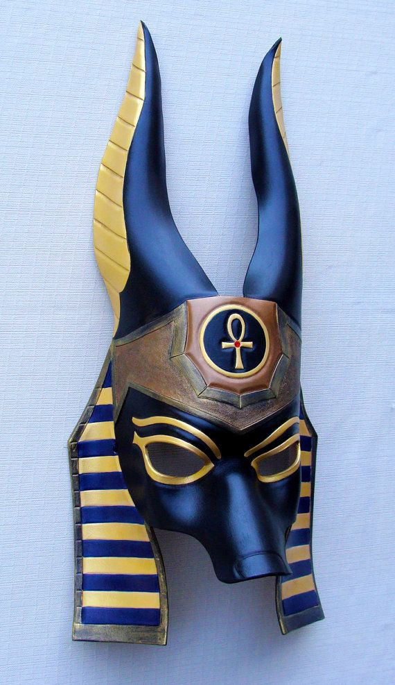Made to Order: Egyptian Jackal Anubis Leather by B3leatherdesigns
