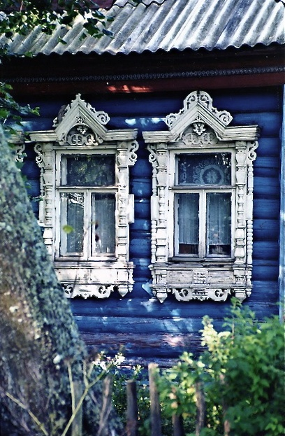 Russian country house windows