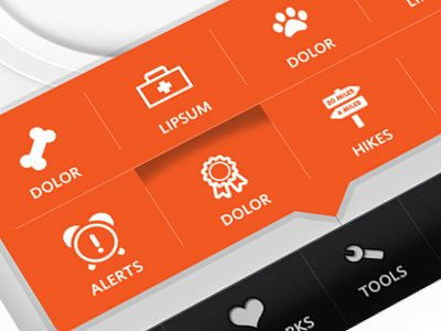 Nice use of orange color and love the texture of the toolbar. I like the pop out nature from the tab bar.