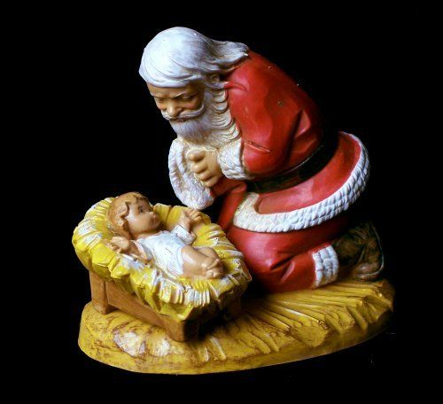Fontanini Santa Kneeling with Christ Child Figurine ** Be sure to check out this awesome product. (This is an affiliate link) #CollectibleFigurines
