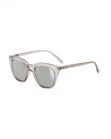 Le Specs HALFMOON MAGIC verspiegelte Sonnenbrille Transparent