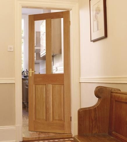 Howdens Joinery Hardwood Internal Doors Are Available In A Varied Choice Of Glazed And Panelled Designs Including Dordogne 4 6 Panel Oak