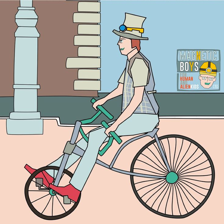 Afternoon in the steampunk era  008 - www.magneticboys.com -  #steampunk #bicycle #1900s #XIXcentury #bike #bikelove #streetlife #illustration #childrensillustration #picturebook #kids #kidlit #magneticboys