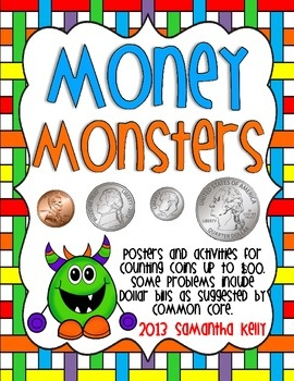 Learn to count money and have FUN with these adorable monsters!  Great for any 1st, 2nd, or 3rd grade classroom! $