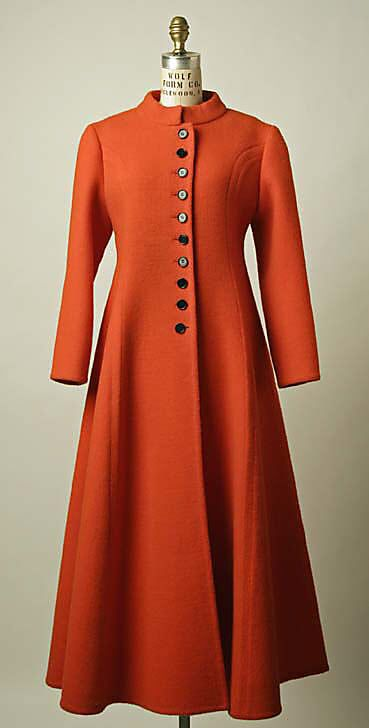 Coat Probably by House of Patou (French, founded 1919)  Date:     1960s Culture:     probably French Medium:     wool Dimensions:     Length at CB: 53 3/4 in. (136.5 cm)
