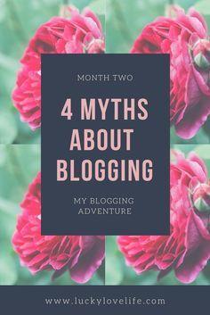 myths about blogging, starting a blog