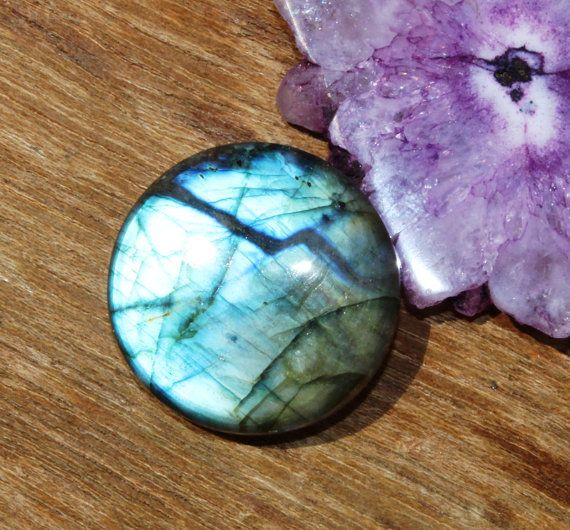 29x29 mm Natural Labradorite Round Cabochon / by gemsinternational