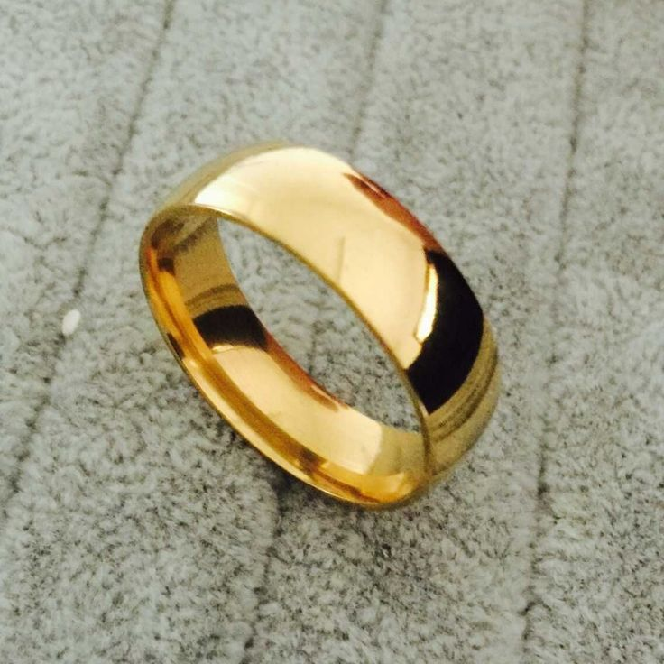 Gouden plaat mannen 'titanium ringen voor mannen 8mm cool sieraden brede vergulde trouwringen voor vrouwen en mannen sieraden