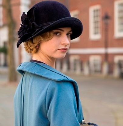 Lily James (as Lady Rose McClare) in Downton Abbey