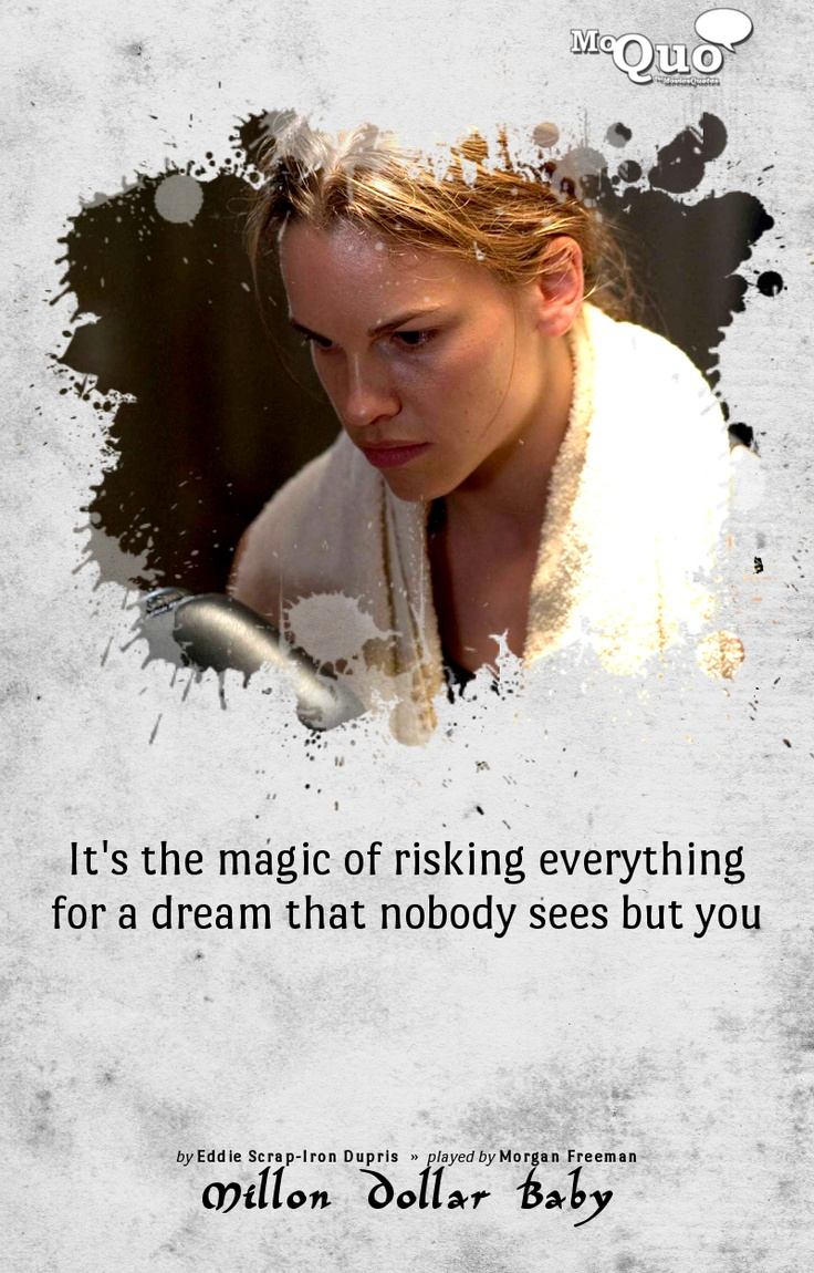 It's the magic of risking everything for a dream that ...
