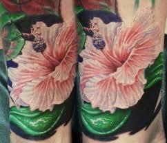 back tattoo girl hibiscus - Google Search