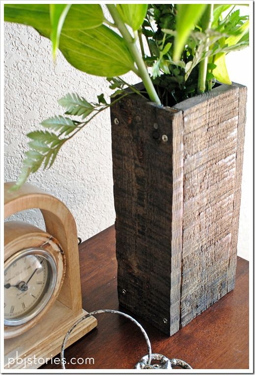 DIY: reclaimed wood vase #LiquidGoldSalvagedWood