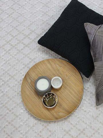 Lattice Handloom Rug, in Multiple Sizes & Colours - Complete Pad ®