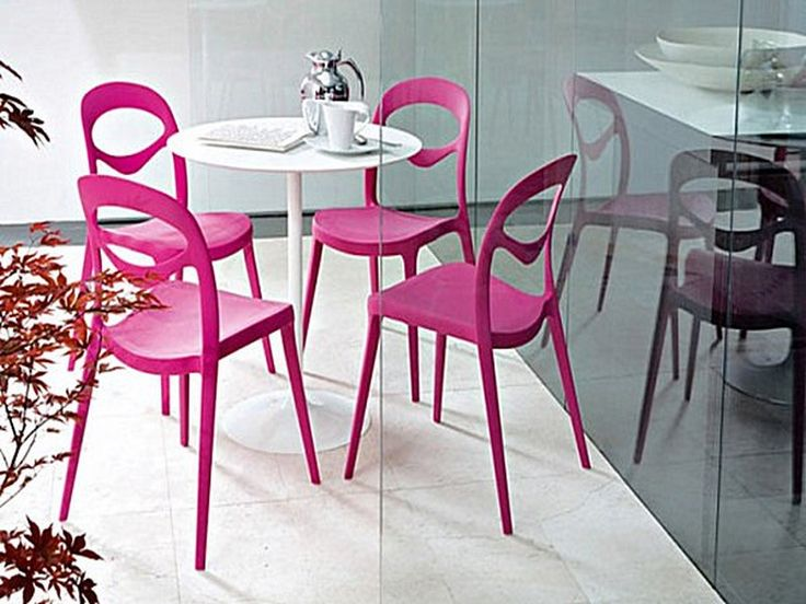 White Pink Small Kitchen Table Sets For Modern House