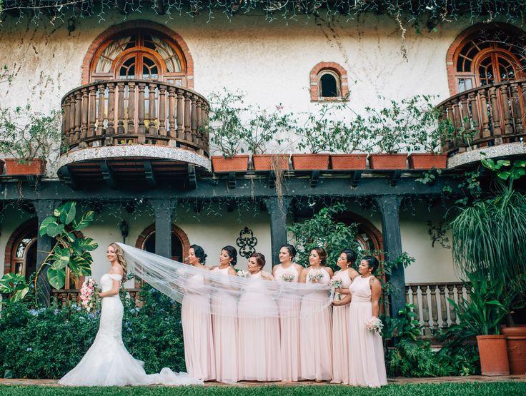 Destination Wedding in Puerto Rico. Lovely outdoor garden wedding venue. Hacienda Siesta Alegre