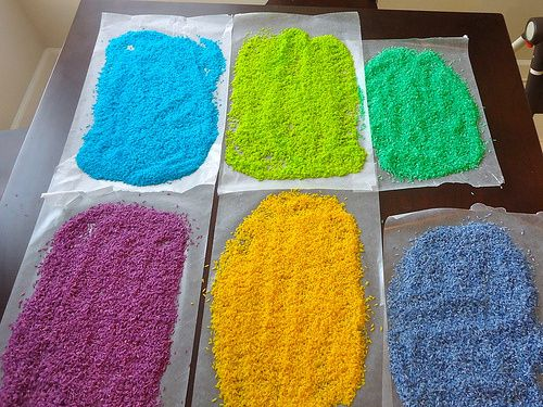 Crafts for Toddlers: Coloured Rice