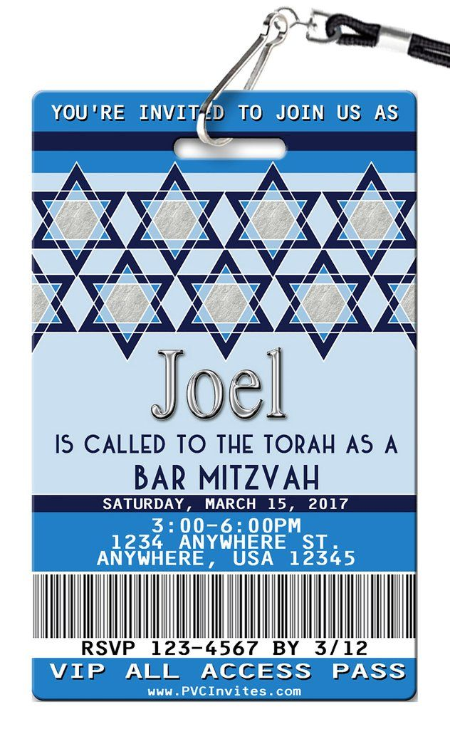 Bar Mitzvah Birthday Invitations