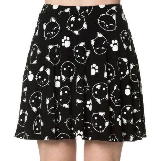 Falda Kawaii Purrrfect Kitty  #banned #cat #gato #ropa #gotica #falda #gothic #clothing #skirt #alternative #pastelgoth #xtremonline