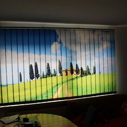 Lamellenvorhang Toskana Fr Das Fenster Im Wohnzimmer