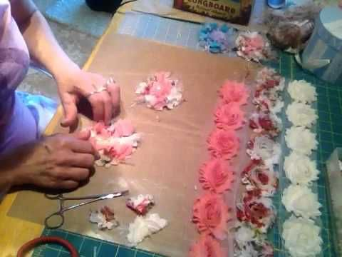 Vicki's Less Puffy Rosette flowers tutorial