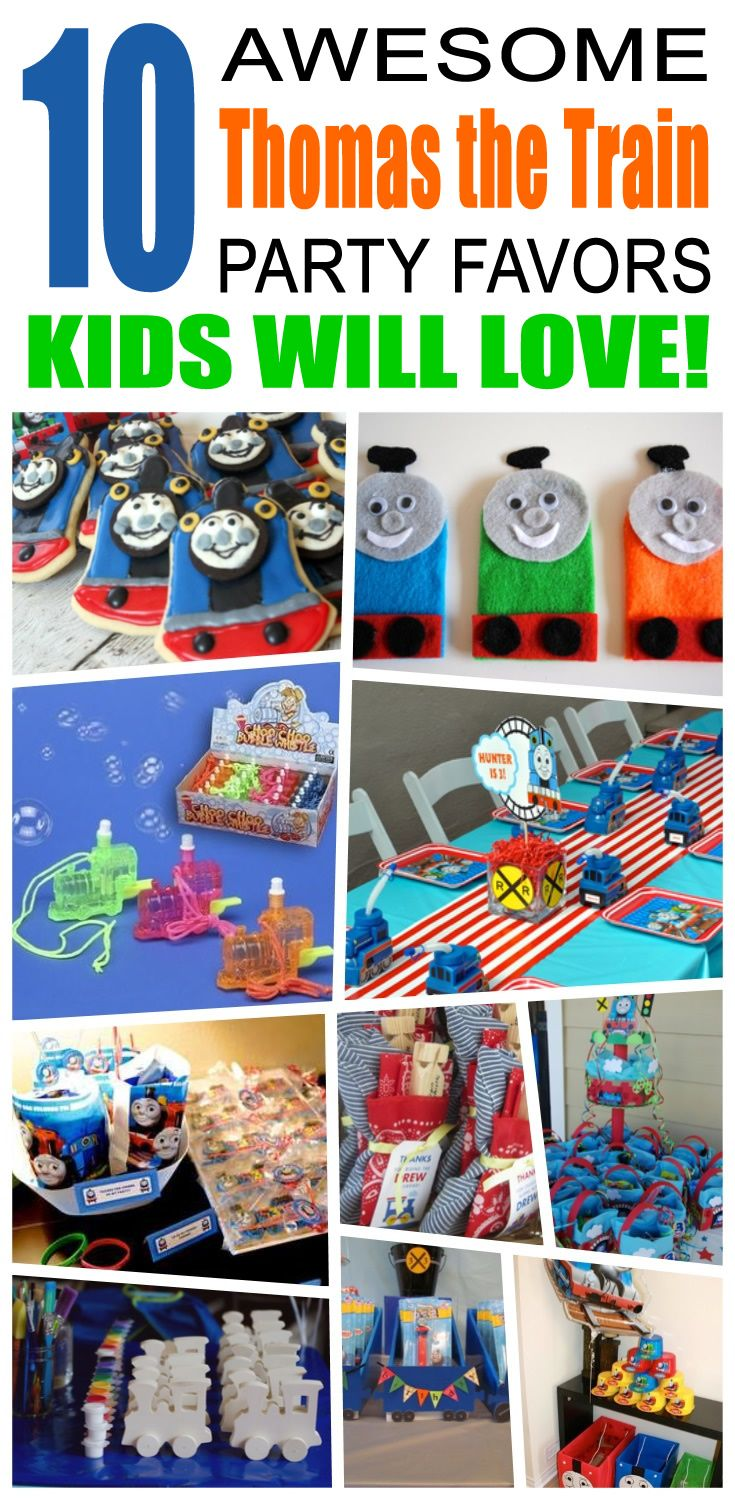 Great thomas the train party favors kids will love. Fun and cool thomas the train birthday party favor ideas for children. Easy goody bags, treat bags, gifts and more for boys and girls. Get the best thomas the train birthday party favors any child would love to take home. Loot bags, loot boxes, goodie bags, candy and more for thomas the train party celebrations.