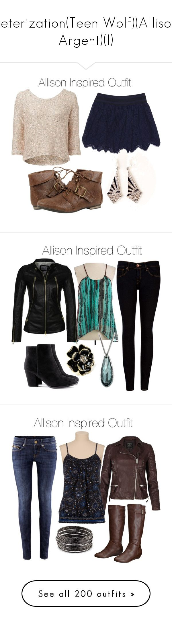 """veterization(Teen Wolf)(Allison Argent)(I)"" by nessiecullen2286 ❤ liked on Polyvore featuring Forever New, Milly, Buffalo David Bitton, Ted Baker, Swarovski, Addition by SLY 010, Amrita Singh, H&M, AllSaints and Mossimo Supply Co."