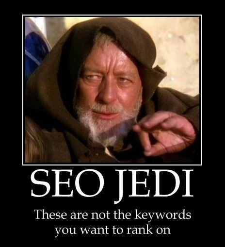 Ever have trouble focusing on a solid keyword set? Obi Wan is here to set you straight. #SEO #Memes #KeywordResearch