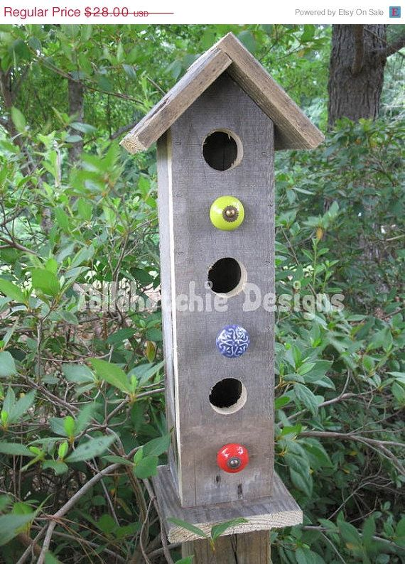 Barnwood Birdhouses Rustic Birdhouses by TallahatchieDesigns