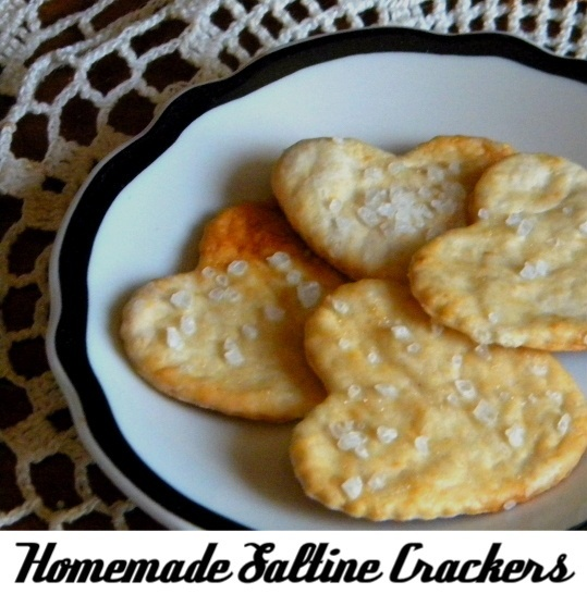 Homemade saltines... so easy, so quick, so good.... http://www.restlesschipotle.com/2007/07/saltines/