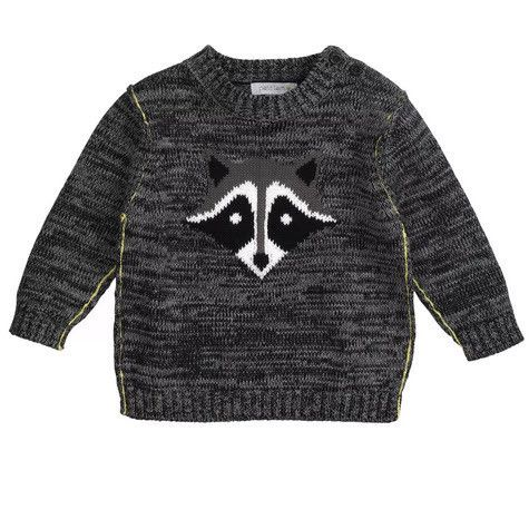 Petit Lem Raccoon Knit Sweater