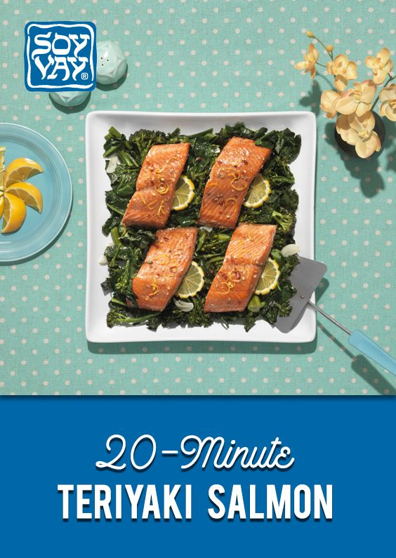 Check out this 20-minute teriyaki salmon and pop it in the oven for a deliciously cooked meal! Click for instructions of the recipe.