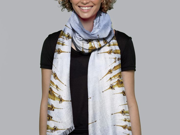 Cashmere Silk Scarf - harmony with the universe by VIDA VIDA nKjPs