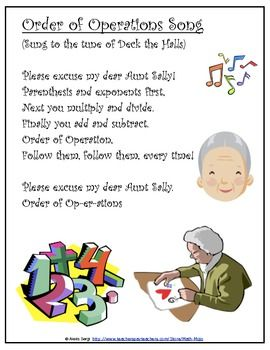 Math Song; Order of Operations Song