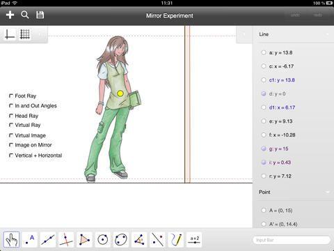 Geogebra er gratis og er et geometri program.