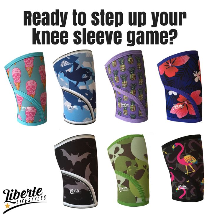Knee sleeves for CrossFit, Weightlifting, Powerlifting. We  Prints!